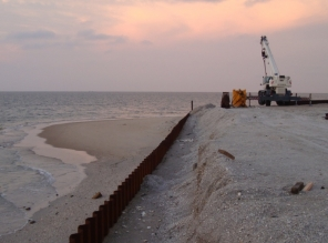 Sheet Piling for Beach Protection, Baia do Mussulo